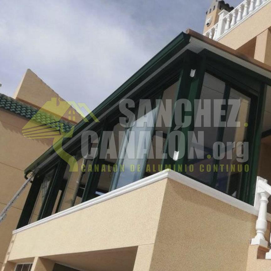 instalacion de canalon continuo de aluminio de canalones sanchez 19