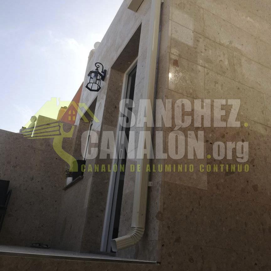 instalacion de canalon continuo de aluminio de canalones sanchez 21