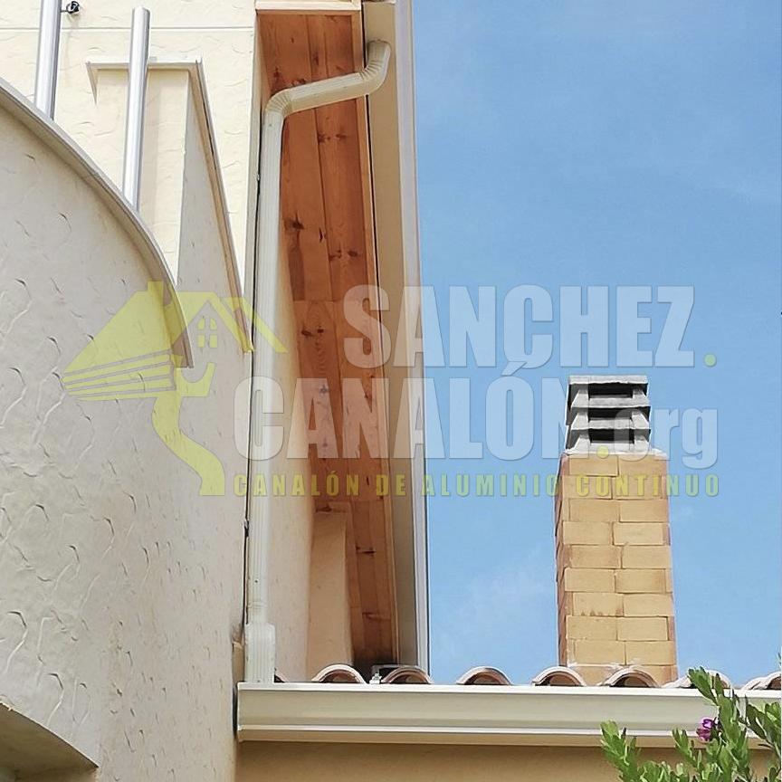 instalacion de canalon continuo de aluminio de canalones sanchez 27